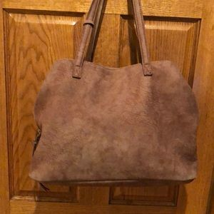 Free People large zippered tote with 3 sections